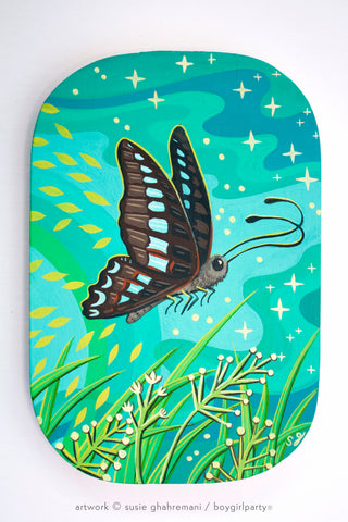 Australian Butterfly Original Painting -- Artwork by Susie Ghahremani