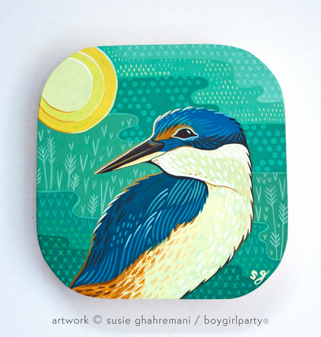 Kingfisher Original Painting -- Artwork by Susie Ghahremani