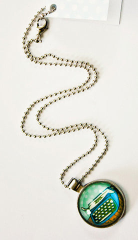 Blue Typewriter Necklace by Susie Ghahremani / boygirlparty.com