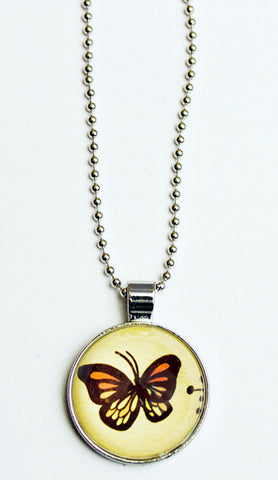 Glass Butterfly Charm Necklace by Susie Ghahremani / boygirlparty.com