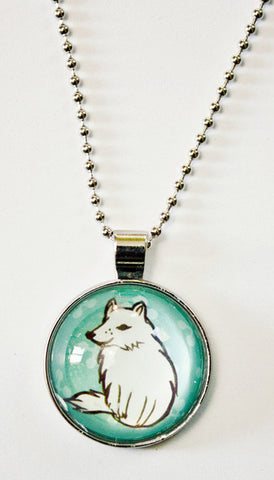 Glass Wolf Necklace by Susie Ghahremani / boygirlparty.com