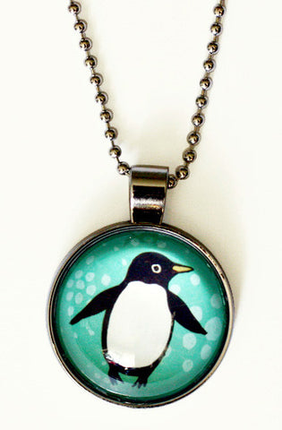 Glass Penguin Necklace by boygirlparty - http://shop.boygirlparty.com