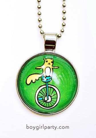 Unicycle Necklace by Susie Ghahremani / boygirlparty.com