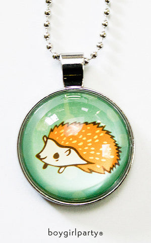 Orange Hedgehog Necklace by Susie Ghahremani / boygirlparty.com