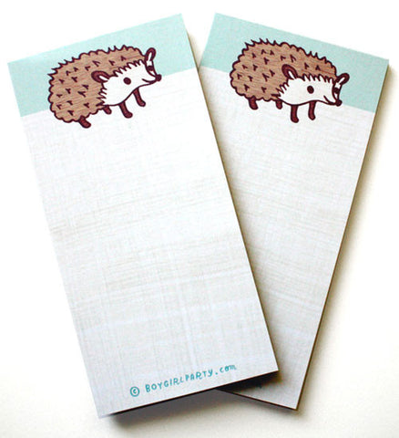 Blue Hedgehog Notepad by Susie Ghahremani / boygirlparty.com