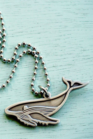 Humpback Whale Charm Necklace by Susie Ghahremani / boygirlparty.com