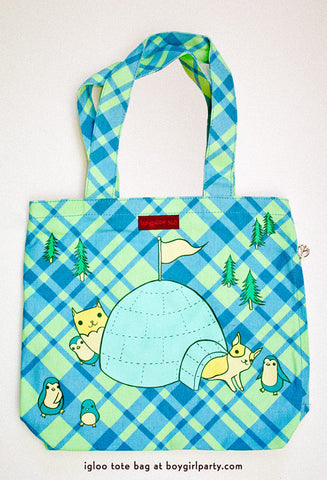 Igloo Party Tote Bag by Susie Ghahremani / boygirlparty.com