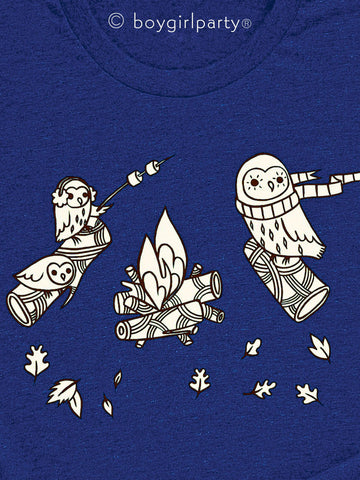 Boygirlparty Campfire Owls T-shirt