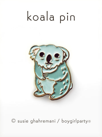 Koala Pin - Koala Enamel Pin by boygirlparty from shop.boygirlparty.com