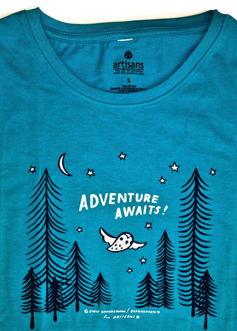 Sale: Adventure Awaits Ladies T-Shirt / Graphic Tee