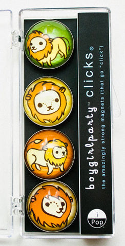 Little Lion Magnet Set by Susie Ghahremani / boygirlparty.com