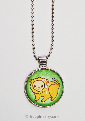 Lion Charm Necklace by Susie Ghahremani / boygirlparty.com