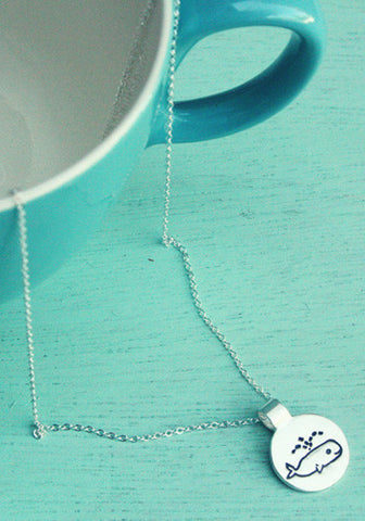 Little Silver Whale Necklace by Susie Ghahremani / boygirlparty.com