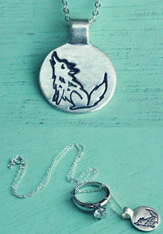 Silver Wolf Necklace by Susie Ghahremani / boygirlparty.com