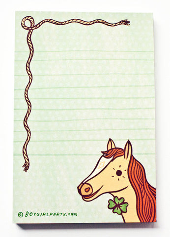 Lucky Horse Notepad by Susie Ghahremani / boygirlparty.com
