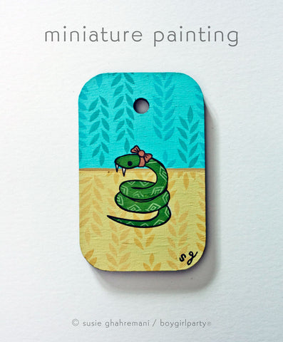 Snake Miniature Painting by Susie Ghahremani