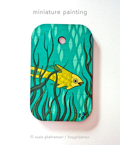 Fish Miniature Painting by Susie Ghahremani