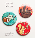 Pocket Mirrors from the Boygirlparty Shop