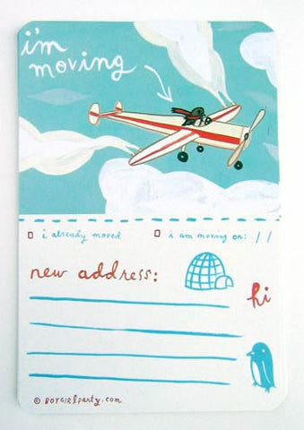 Moving Announcement Cards (set of 10) by Susie Ghahremani / boygirlparty.com