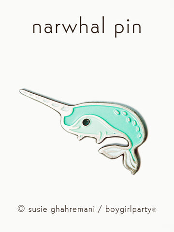 Narwhal Enamel Pin Narwhal Pin - Enamel Pin by boygirlparty