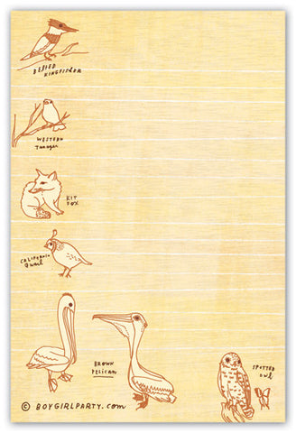 Natural History Doodle Notepad by Susie Ghahremani / boygirlparty.com