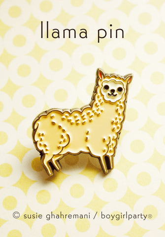 Brass Llama Pin by Susie Ghahremani / boygirlparty.com