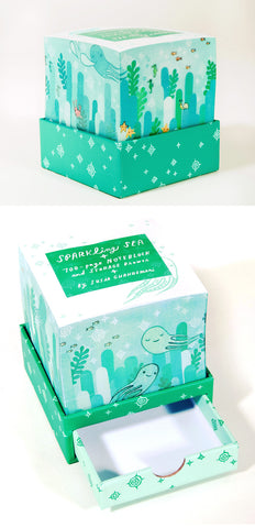 Sparkling Sea Noteblock by Susie Ghahremani / boygirlparty.com