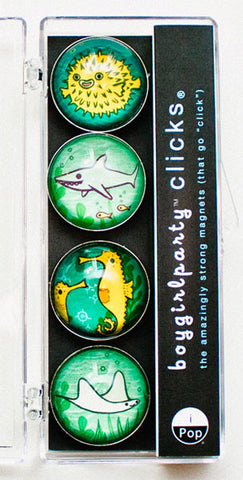 Ocean Animals Magnet Set by Susie Ghahremani / boygirlparty.com