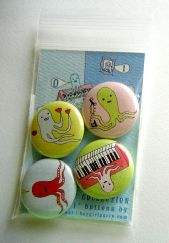Octopi Button Collection by Susie Ghahremani / boygirlparty.com