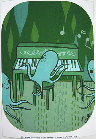 Pianocto Art Print (Signed) by Susie Ghahremani / boygirlparty.com
