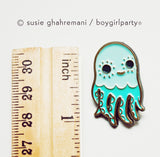 Octopus Pin Enamel Lapel Pin Squid Pin by boygirlparty / Susie Ghahremani http://shop.boygirlparty.com