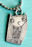 Boygirlparty Owl Necklace by Susie Ghahremani / boygirlparty.com