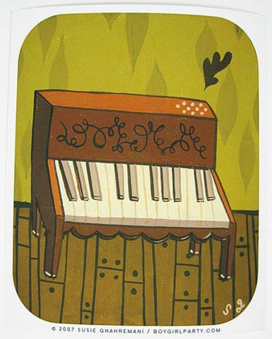 Piano Art Print by Susie Ghahremani / boygirlparty.com