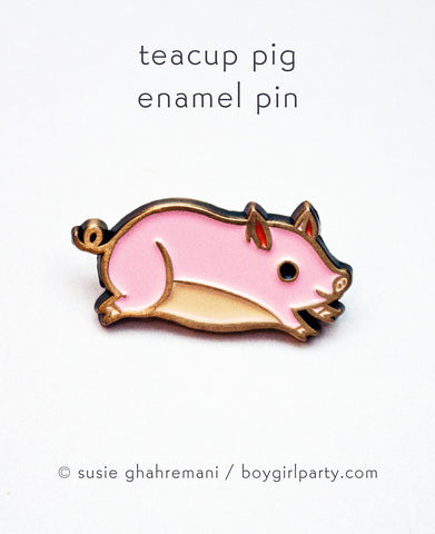 Pig Pin by Susie Ghahremani / boygirlparty.com
