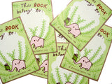 Elephant Bookplate (Ex Libris) Set of 6 by Susie Ghahremani / boygirlparty.com