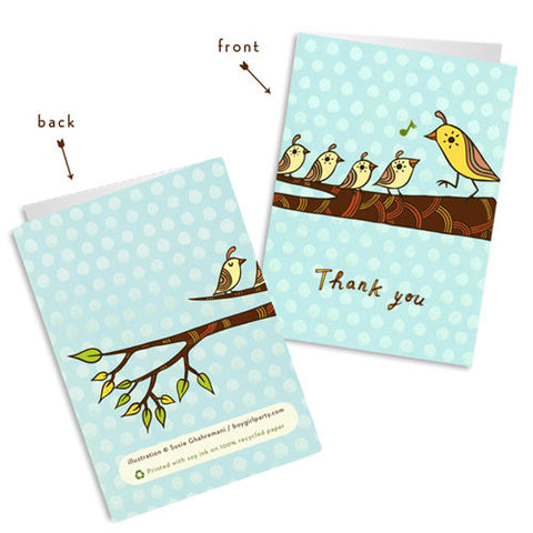 Thank You Cards (Set of 4) by Susie Ghahremani / boygirlparty.com