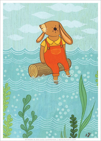 Rabbit Art Print by Susie Ghahremani / boygirlparty.com