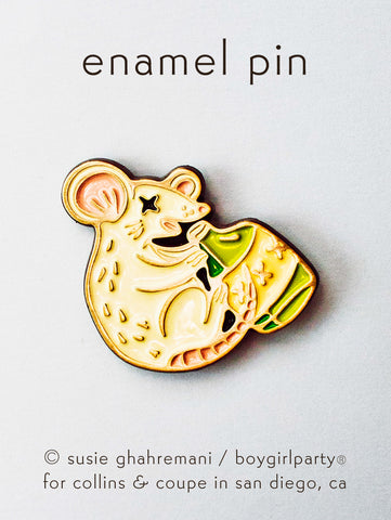 Year of the Rat Pin – Lunar New Year Rat Enamel Pin by boygirlparty for Collins & Coupe