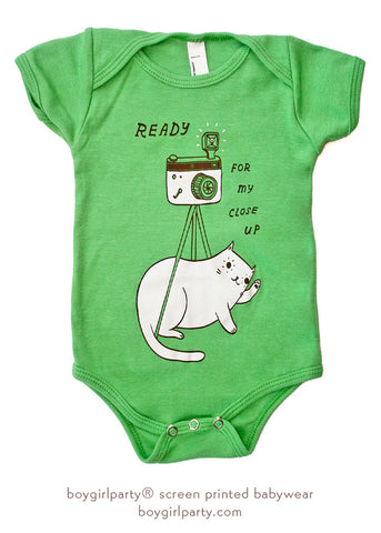 Cat Baby Clothing by Susie Ghahremani / boygirlparty.com