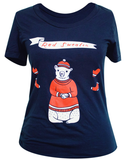 T-shirt: Polar Bear in a Red Sweater by Susie Ghahremani / shop.boygirlparty.com