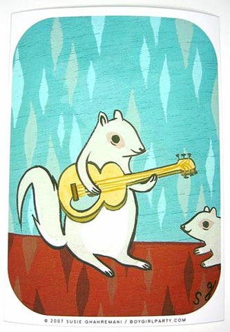 Rock Squirrel Art Print (Signed) by Susie Ghahremani / boygirlparty.com