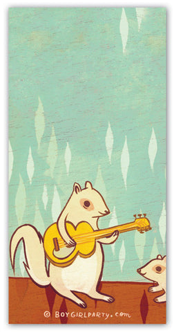 Rock Squirrel Notepad by Susie Ghahremani / boygirlparty.com