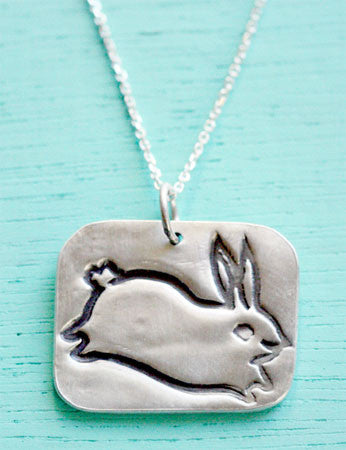 Silver Bunny Necklace by Susie Ghahremani / boygirlparty.com