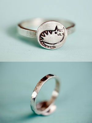 Silver Cat Ring by Susie Ghahremani / boygirlparty.com