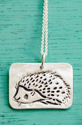 Silver Hedgehog Necklace by Susie Ghahremani / boygirlparty.com