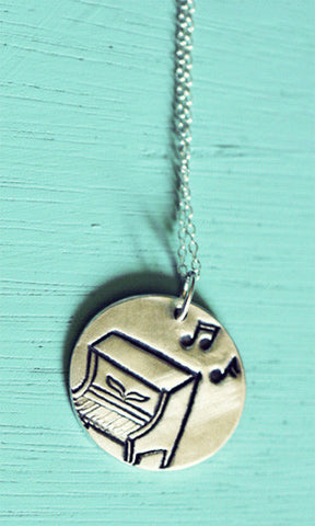 Silver Piano Necklace by Susie Ghahremani / boygirlparty.com