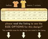 Size chart for boygirlparty t-shirts