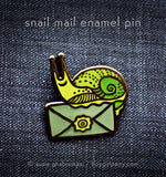 Snail Mail Pin - Snail Enamel Pin - Penpal Enamel Pin by boygirlparty (http://shop.boygirlparty.com)