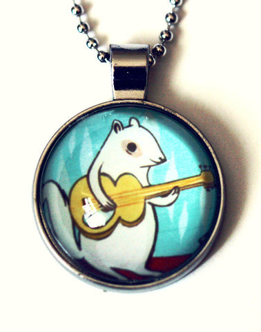Glass Squirrel Guitar Necklace by Susie Ghahremani / boygirlparty.com