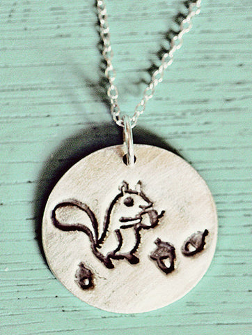 Silver Squirrel Necklace by Susie Ghahremani / boygirlparty.com